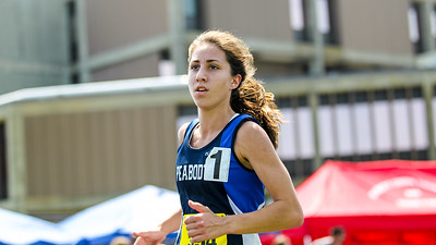 Catarina Rocha of Peabody on her way to a  11:03.43  2 mile win at the 2012 D1 Outdoor State Championships