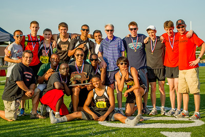 Newton north boys after winning 2012 Outdoor D1 State Relays