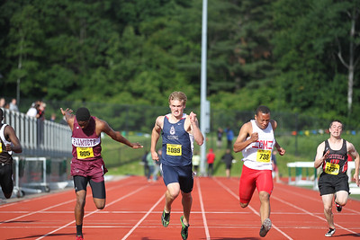 Pembroke's Kris Horn in the 100m preliminaries at the State Open