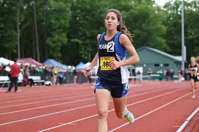 Caterina Rocha leaves the field behind in the Mass State Open 2 mile run.
