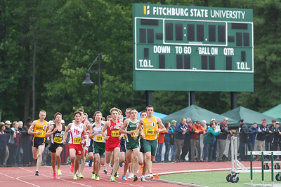 Early action in the state open 2 mile run.