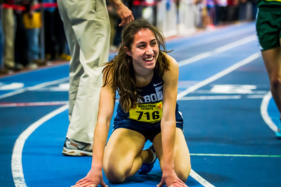 Peabody's Catarina Rocha celebrates breaking her state open mile record with a run of 4:49.14