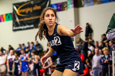 Catarina Rocha prepares to take the baton to a 12:20.04 Distance Medley Relay victory at the D1 State Relays; just 0.5 short of the meet record.