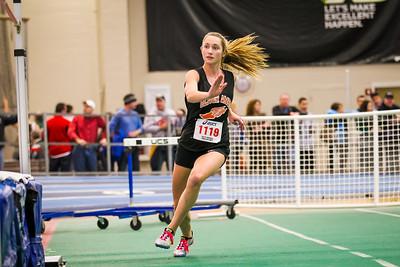"Olivia Mileika won the high jump at the Auerbach freshman-sophomore meet with a jump of 5'1""."