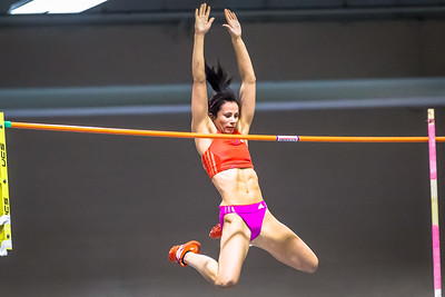 Olympic Gold Medalist Jenn Suhr visits Boston for the New Balance Grand Prix.
