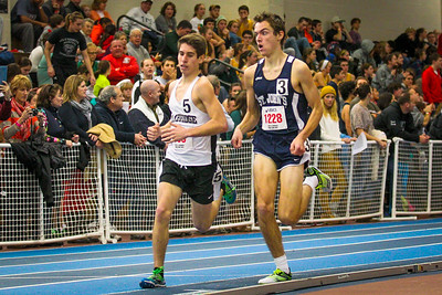 Cambridge freshman Sam Stubbs came from behind to win the mile at the Auerbach freshman-sophomore meet in 4:41.11.