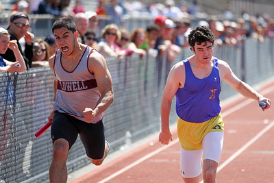 Lowell powers to a 4x100m victory in the D1 state relays.  Lowell took the team title for the meet as well.