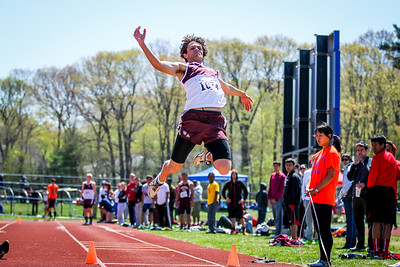 Cody Trudel set a new large-school freshman-sophomore meet record of 21'11.25""