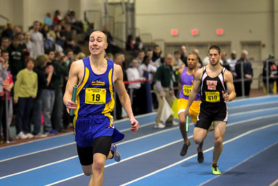 Acton-Boxborough's Brian Sommers anchored his team to a 4x400m victory at the MIAA State Open Championships (3:25.13).