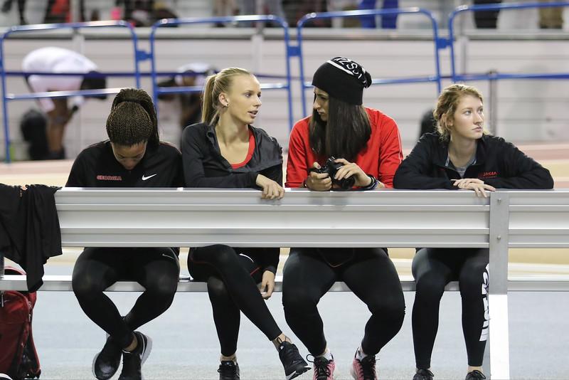 Mady Fagan with Tatiana Gusin - UGA Track and Field Team (photo from Georgia Sports Communications)