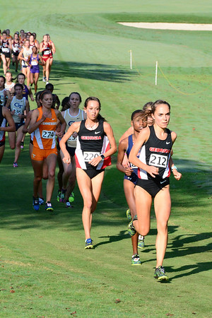 Georgia's Women's Cross Country team during the 2017 Bulldog SEC Preview at the UGA Golf Course in Athens, Ga. on Saturday, Sep. 9, 2017.  (Photo by Caitlyn Tam / Georgia Sports Communication)
