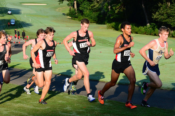 UGA's Men's Cross Country team during the 2017 Bulldog SEC Preview at the UGA Golf Course in Athens, Ga. on Saturday, Sep. 9, 2017.  (Photo by Caitlyn Tam / Georgia Sports Communication)