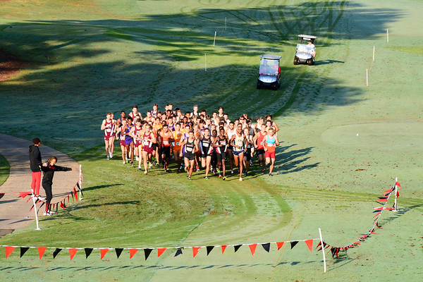 UGA Men's Cross Country team during the 2017 Bulldog SEC Preview at the UGA Golf Course in Athens, Ga. on Saturday, Sep. 9, 2017.  (Photo by Caitlyn Tam / Georgia Sports Communication)