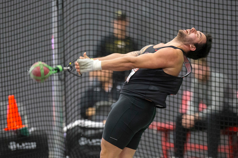 Alex Poursanidis - Senior, Georgia track and field team (weight throw) (photo from Georgia Sports Communications)