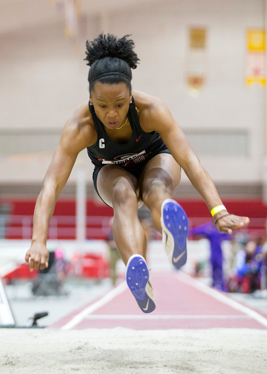 Keturah Orji competes at Razorback Invitational Photo: Georgia Sports Communications