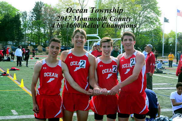 Ocean Twp 4 by 1600 Mon Cty Champs 2017