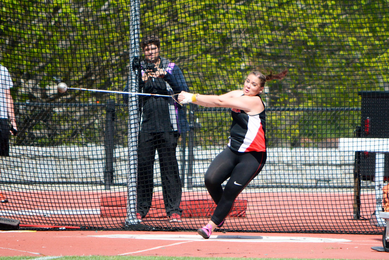 Beatrice Llano - UGA Women's Track and Field Team - competing in the hammer throw (Photo from Georgia Sports Communication)