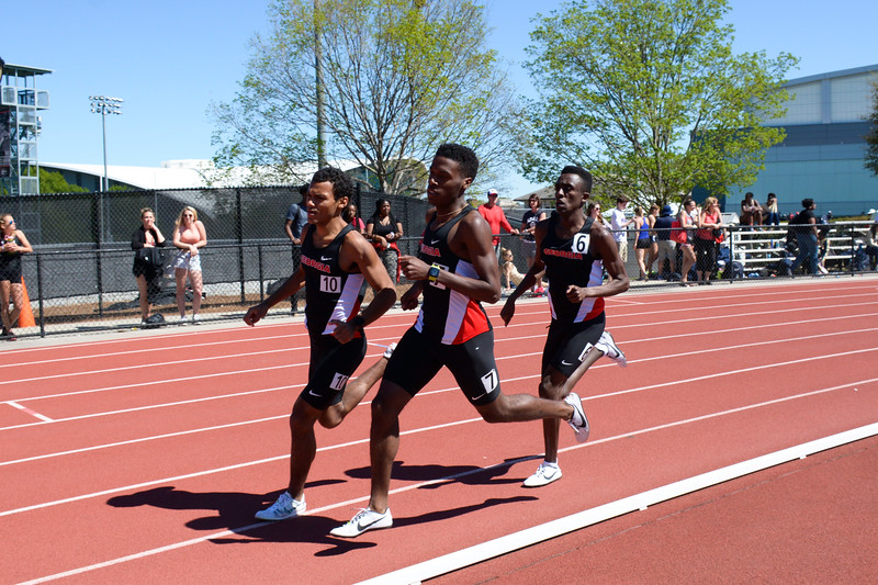 Georgia's Terrel Estime, Jeramey Hampton, and Bryan Kamau  - UGA Men's Cross Country Team -  (Photo: Georgia Sports Communication)