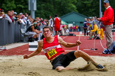 "2012 MIAA Outdoor State Championships - 22'7"" - 2nd"