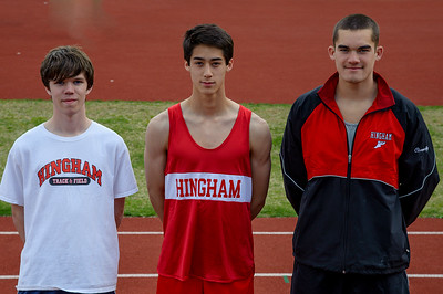 Andrew with Hingham Co-Captains Sam Mildrum and Colin Loughlin