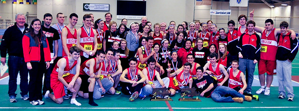 Hingham boys and girls teams at the 2013 MIAA Division 3 Championships