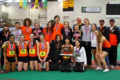 Newton North Girls win 2011 D1 Indoor State Open