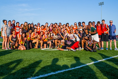 Newton north boys and girls track team after winning 2012 Outdoor D1 State Championships