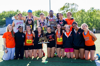 Newton North seniors took home boys and girls D1 State team titles.