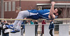 Riverdale's Caleb McCoy clears the bar at 5'6 for the Falcons in the high jump.