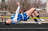 Riverdale's Tayler Ashburn clears the bar at 4'8 for the Falcons.