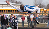 Riverdale's Stephen Letso clears the bar at 5'4 for the Falcons.