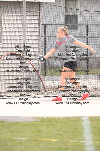 CG's Madisyn Maag prepares to twist and spin to throw the discus.