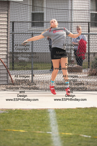 CG's Madisyn Maag spins and throws the discus.