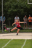 Arcadia's Samantha Watkins spins and tosses the discus.140'2