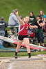 Arcadia's Emily Peters tosses the shot put.