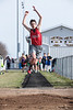 Vanlue's Joe Bonham in the long jump.
