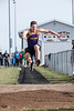 Leipsic's Caleb Lammers in the long jump.