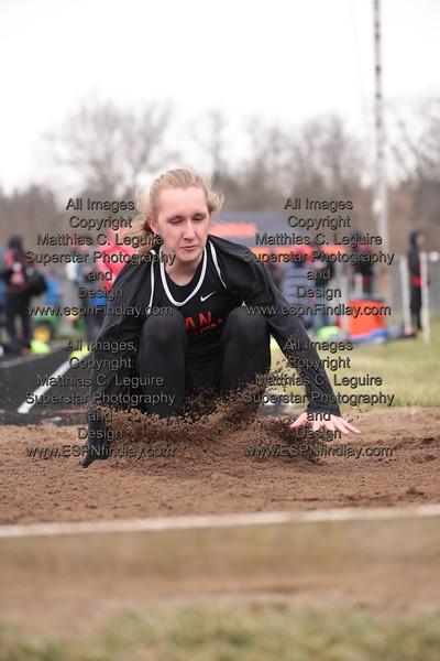 VB's Logan Betts-Baldwin lands in the long jump pit.