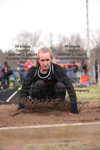 VB's Logan Betts-Baldwin lands in the long jump pit.