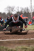 NB's David Patterson lands in the long jump pit.
