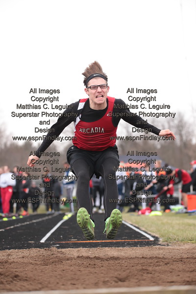 Arcadia's Jakob Bostwick in the long jump.