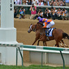 Princess Of Sylmar wins the 2013 Kentucky Oaks.<br /> ©Photo by Courtney V. Bearse