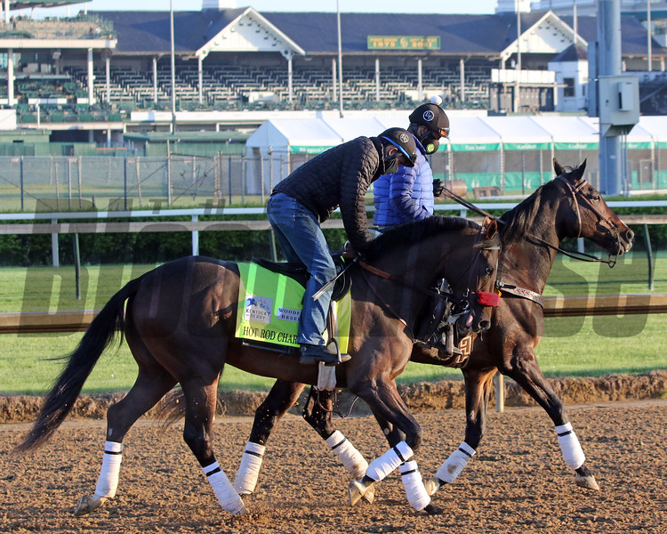 Hot Rod Charlie on the track at Churchill Downs on April 26, 2021. Photo By: Chad B. Harmon