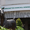 Churchill Downs app for betting and more wit Aristides statue in front. Scenes on Oaks day at Churchill Downs, Louisville, KY on September 3, 2020.