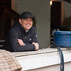 Chad Brown in his shedrow.<br /> Kentucky Derby and Oaks horses, people and scenes at Churchill Downs in Louisville, Ky., on April 25, 2021.