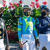 Jockeys before the  Derby City Distaff (G1) at Churchill Downs, Louisville, KY on September 5, 2020.