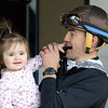 Brian Hernandez with his daughter Anabelle at Churchill Downs on April 24, 2021. Photo By: Chad B. Harmon
