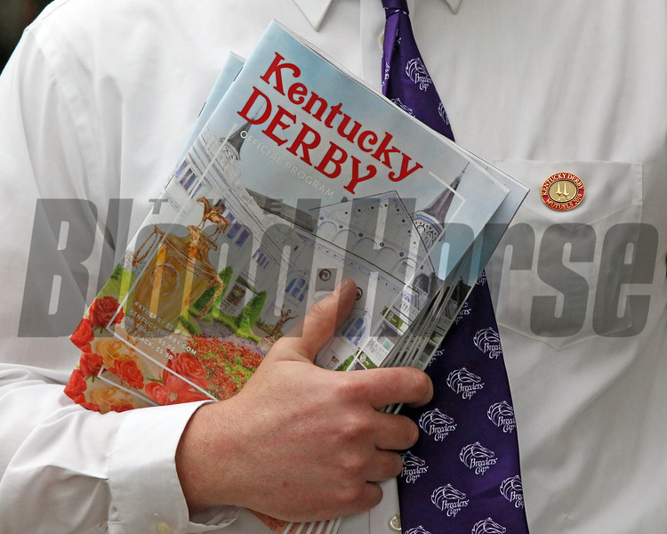 Kentucky Derby programs at Churchill Downs on May 4, 2019. Photo By: Chad B. Harmon