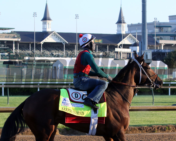 KeepMeInMind on the track at Churchill Downs on April 26, 2021. Photo By: Chad B. Harmon