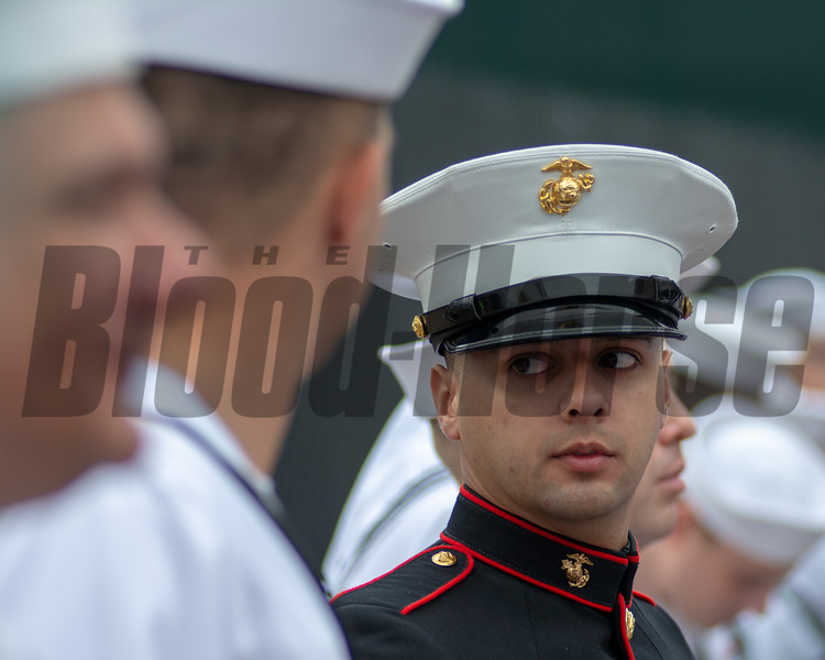 Marine preps for the arrival of the Garland of Roses